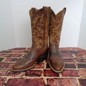 ARIAT Mens Brown Distressed Cowboy Boots 8.5 D